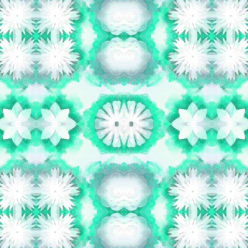 Natureza verde do Fractal ilustração stock