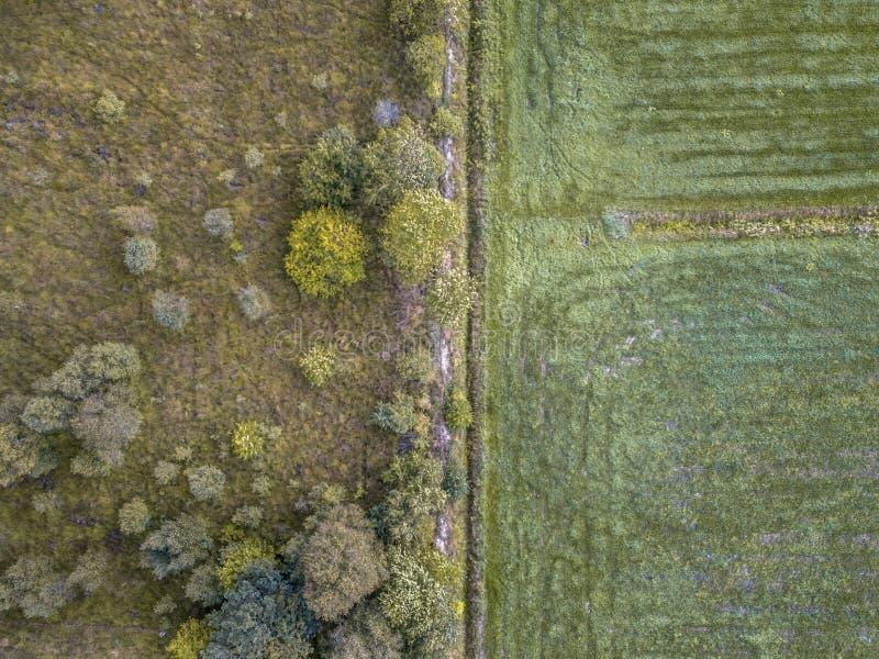 Natureza vs agricultura imagens de stock