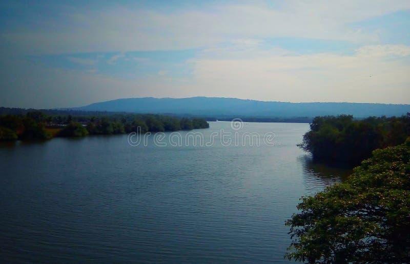 Naturflodsida arkivbild