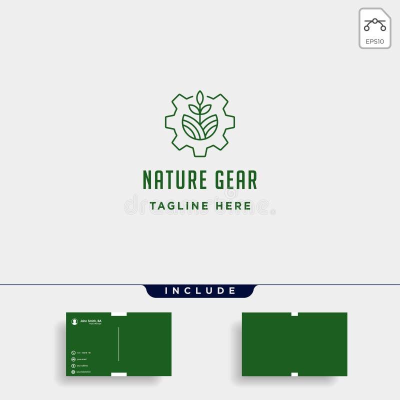 Naturganglogovektorbauernhof-Industrielinie Ikonensymbolzeichen lokalisierte vektor abbildung