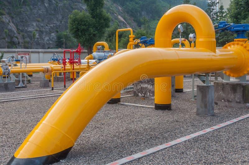 Naturgasrörledning fotografering för bildbyråer