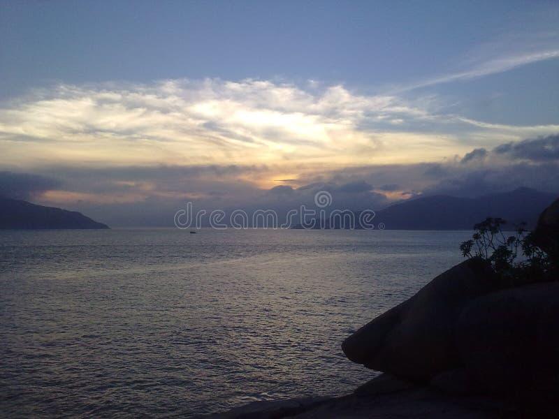 Naturhimmelsikt i Hong Kong arkivfoto