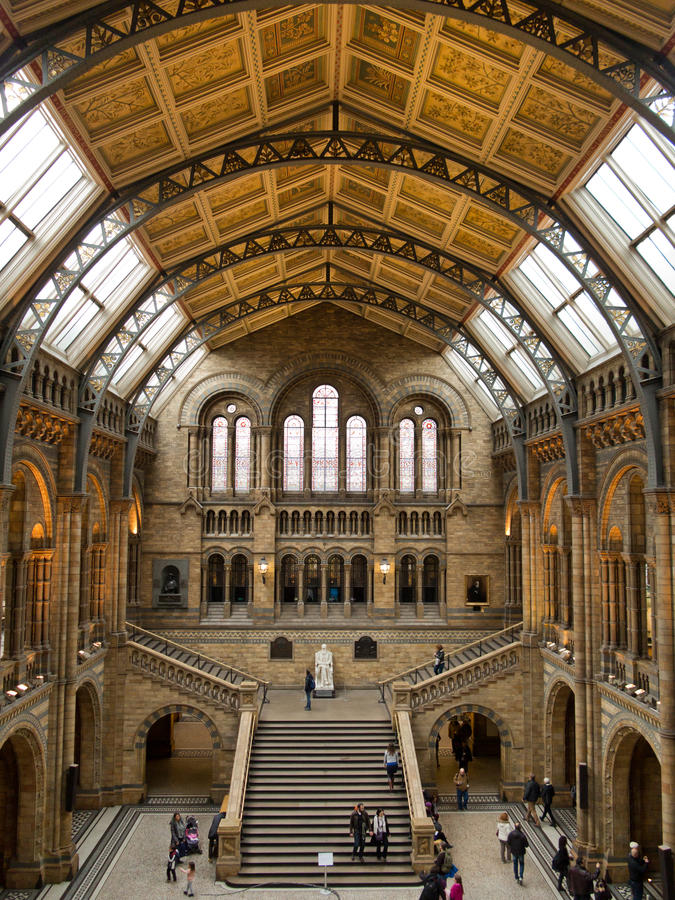 Naturhistoriamuseum i London royaltyfri fotografi