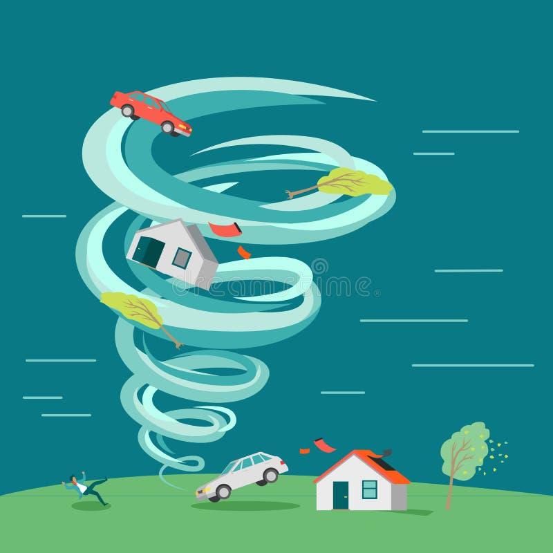 Naturkatastrophe-flache Design-Vektor-Illustration stock abbildung