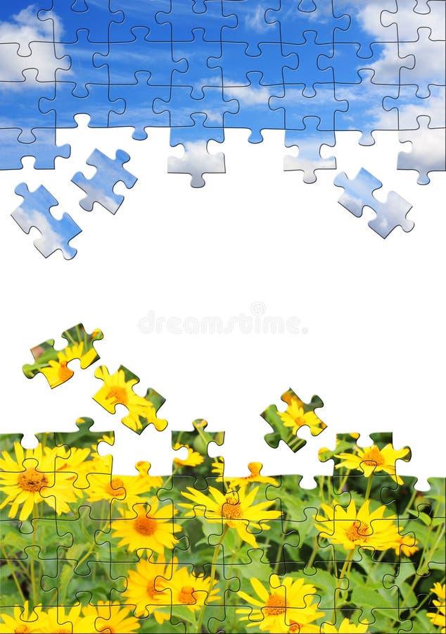 Naturkonzept - Puzzlespiele 3d stock abbildung