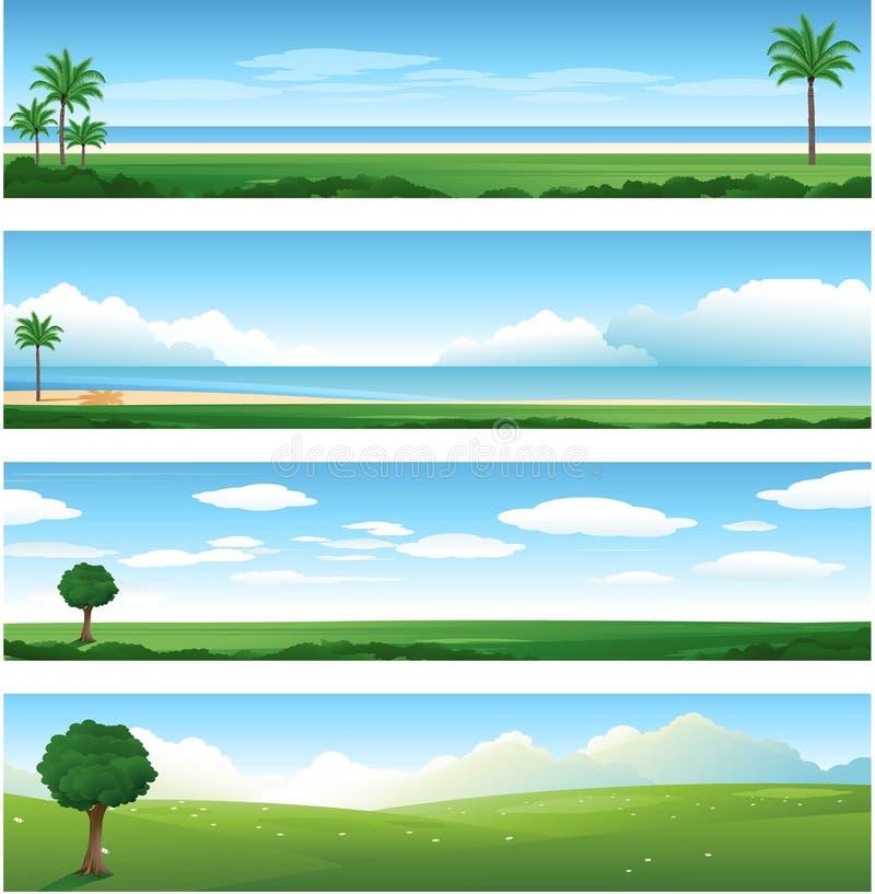 Naturlandschaftshintergrund stock abbildung