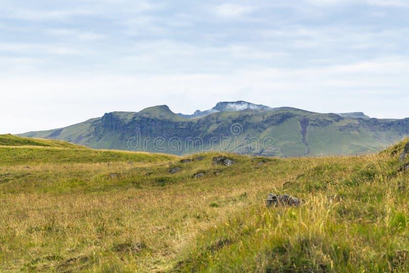 naturlandskap på den Dyrholaey halvön i Island royaltyfria foton