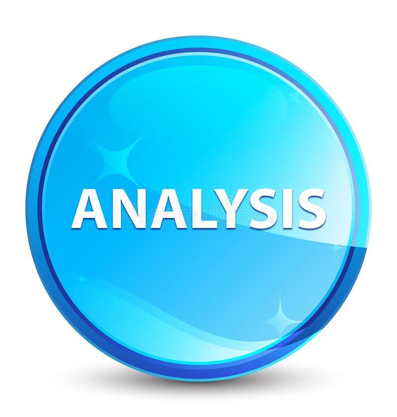 Naturlig blå rund knapp för analysfärgstänk stock illustrationer