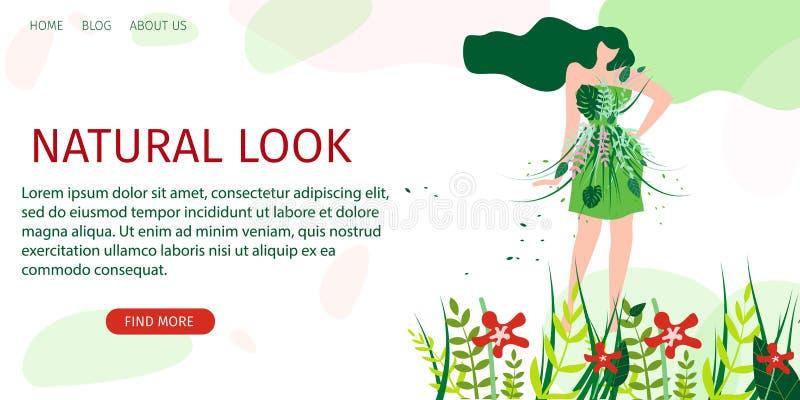 Naturlig blickmodeshow för horisontalplant baner royaltyfri illustrationer