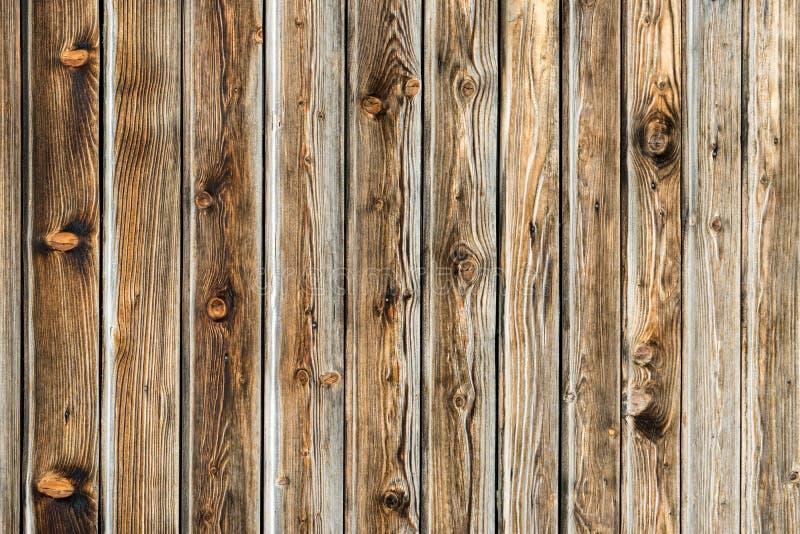 Naturlig brun ladugårdträvägg Trätexturerad bakgrundsmodell royaltyfri fotografi