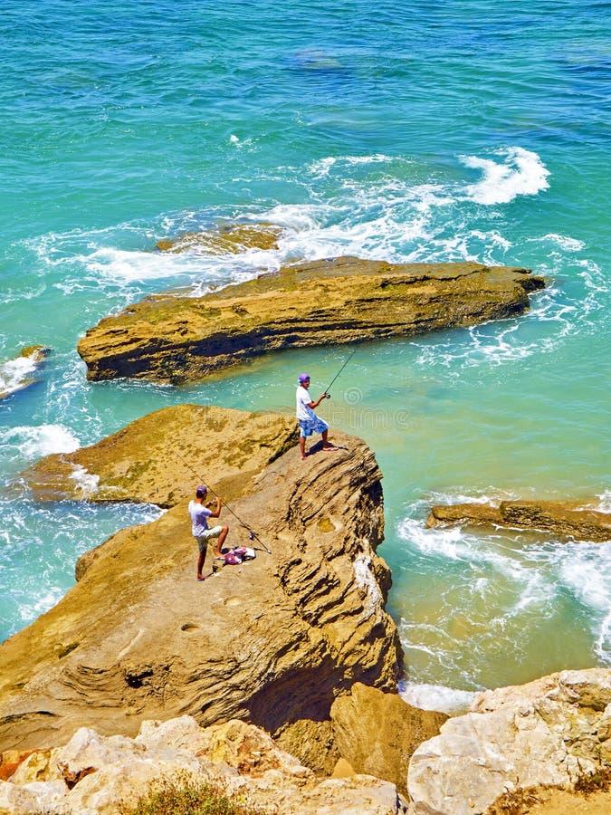 Naturlig Cabo de Trafalgar udde parkerar Barbate Spanien arkivfoto