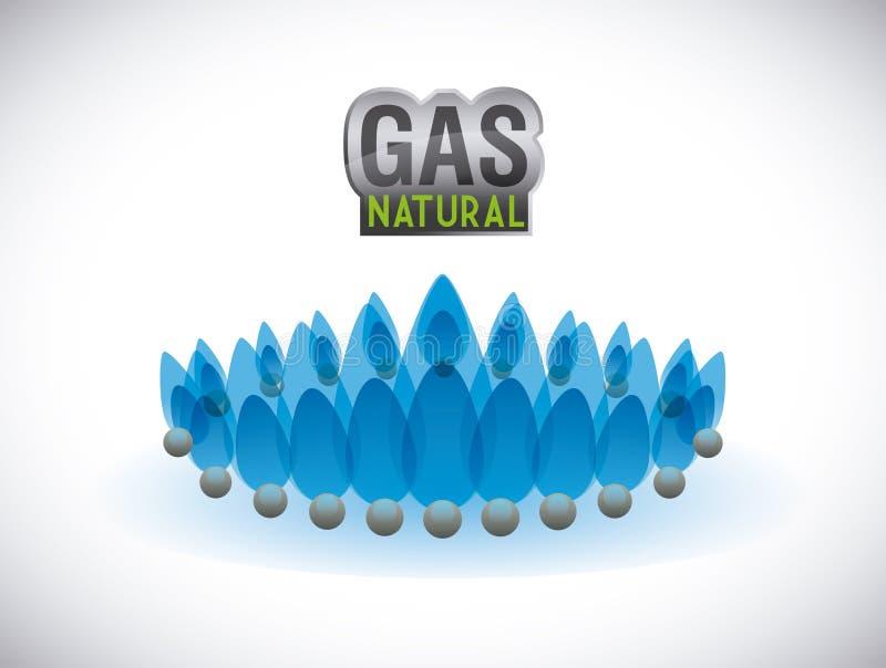 Naturlig design för gas vektor illustrationer