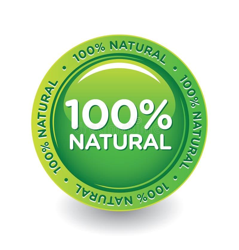 naturlig etikett stock illustrationer