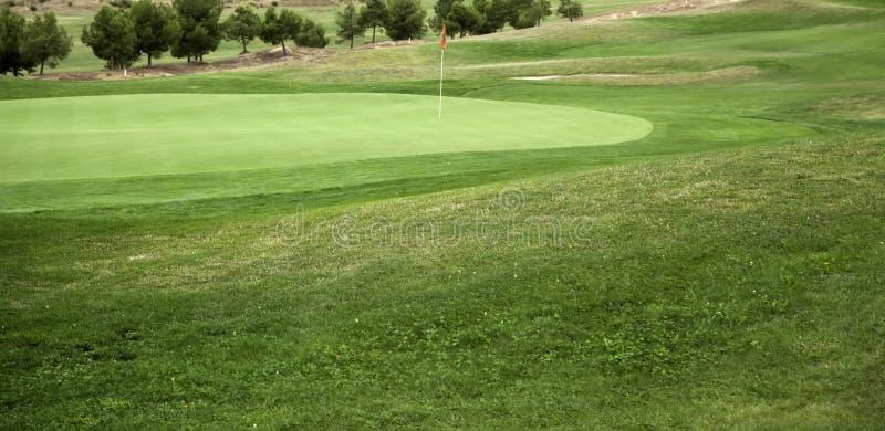 Naturlig golfbana arkivfoton