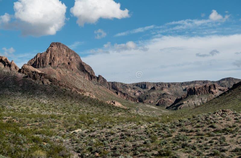 Naturlig gränsmärke, gränskotte i Arizona arkivbilder