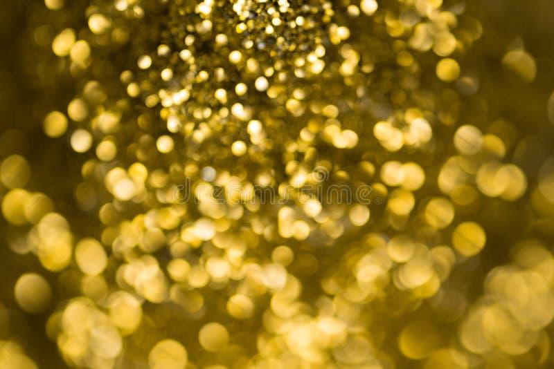 Naturlig guld- bokeh arkivfoto