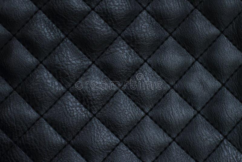 naturlig hudupholstery för svart läder arkivbild