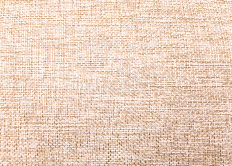 Naturlig linnebakgrund Tygtextur som göras från säckvävmaterial fotografering för bildbyråer