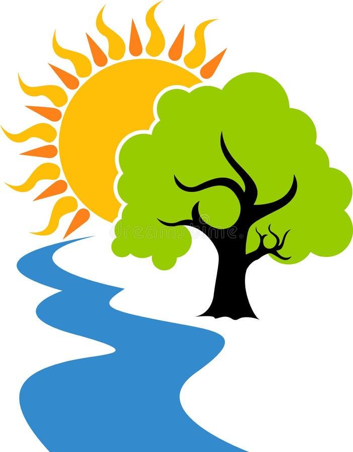 Naturlig logo royaltyfri illustrationer