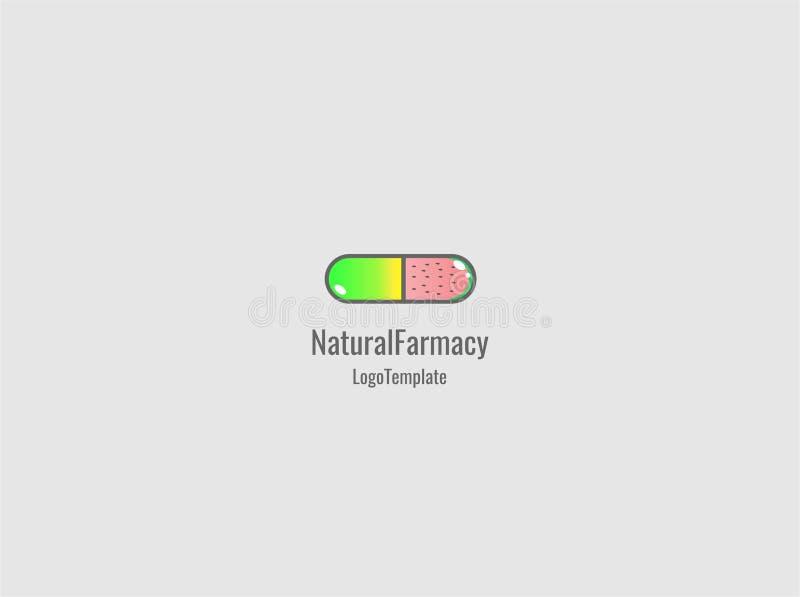 Naturlig medicinlogo arkivbild