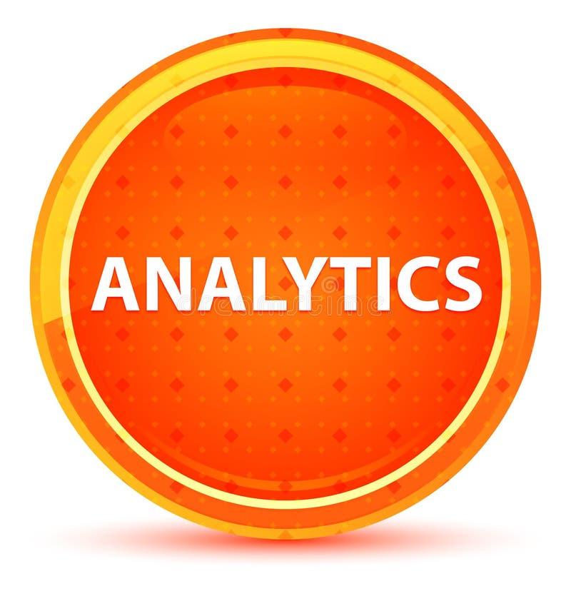 Naturlig orange rund knapp för Analytics stock illustrationer