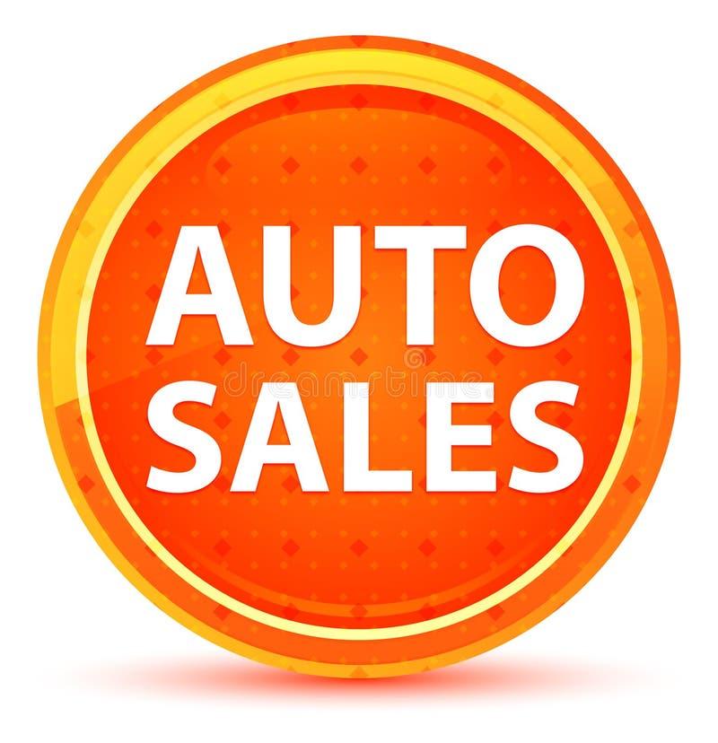 Naturlig orange rund knapp för automatiska försäljningar vektor illustrationer