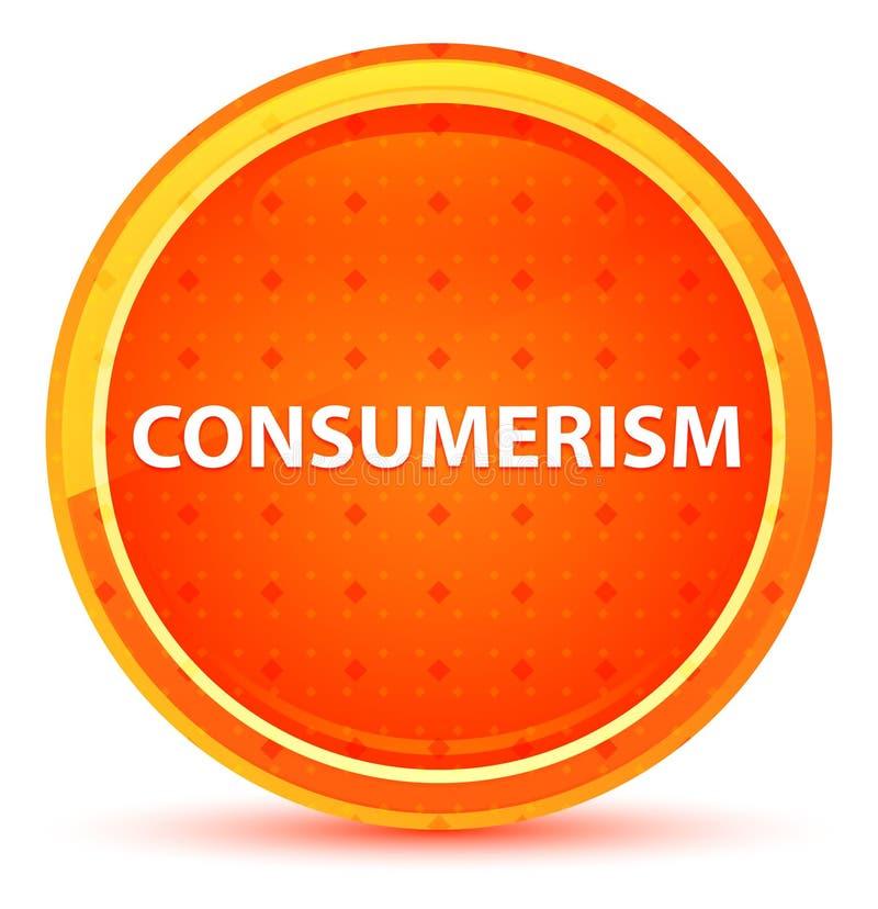 Naturlig orange rund knapp för Consumerism royaltyfri illustrationer