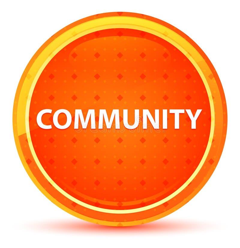 Naturlig orange rund knapp för gemenskap stock illustrationer