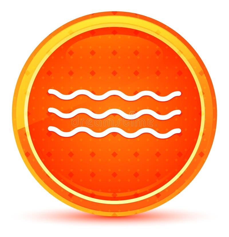 Naturlig orange rund knapp för havsvågsymbol vektor illustrationer