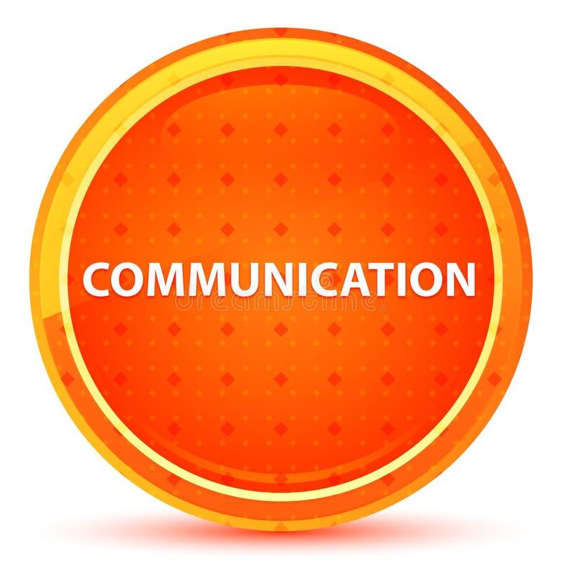 Naturlig orange rund knapp för kommunikation vektor illustrationer