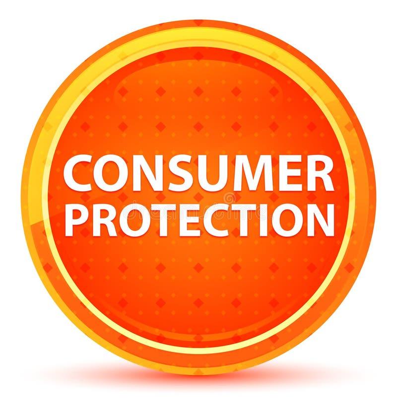Naturlig orange rund knapp för konsumentskydd royaltyfri illustrationer