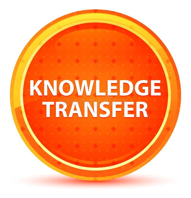 Naturlig orange rund knapp för kunskapsöverföring royaltyfri illustrationer