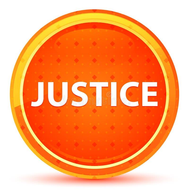 Naturlig orange rund knapp för rättvisa vektor illustrationer