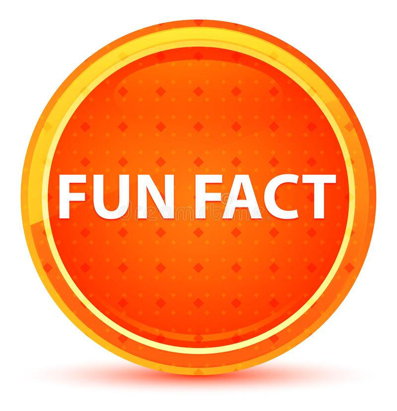 Naturlig orange rund knapp för roligt faktum stock illustrationer
