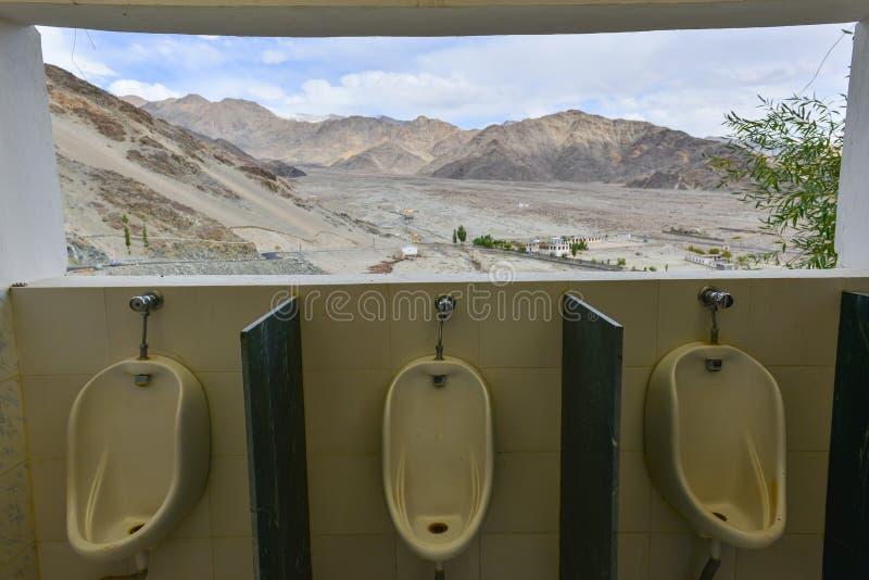 Naturlig sikt från toalett royaltyfri fotografi