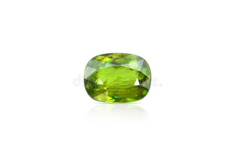 Naturlig Sphene gemstone royaltyfri foto