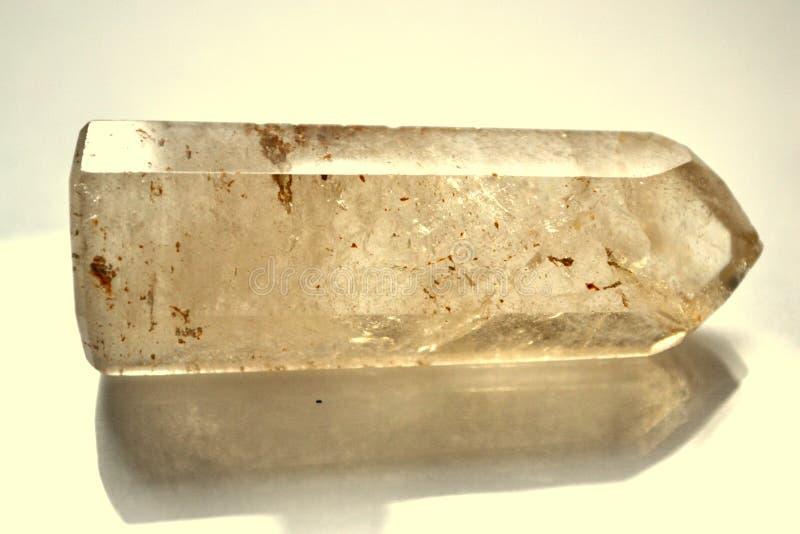 Naturlig sten Crystal Gemstone för Citrinepunkt arkivbild