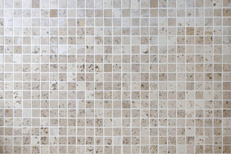 Naturlig tegelplatta för vägg för stenmosaikfyrkant royaltyfri fotografi
