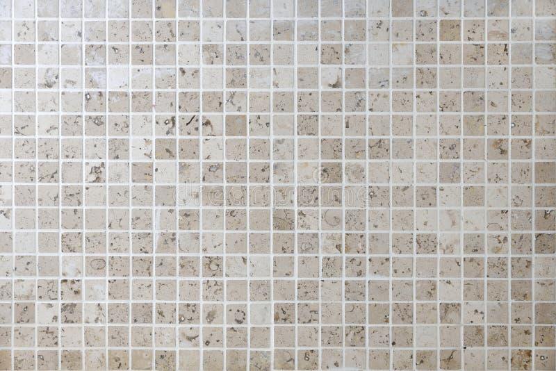 Naturlig tegelplatta för vägg för stenmosaikfyrkant royaltyfria foton