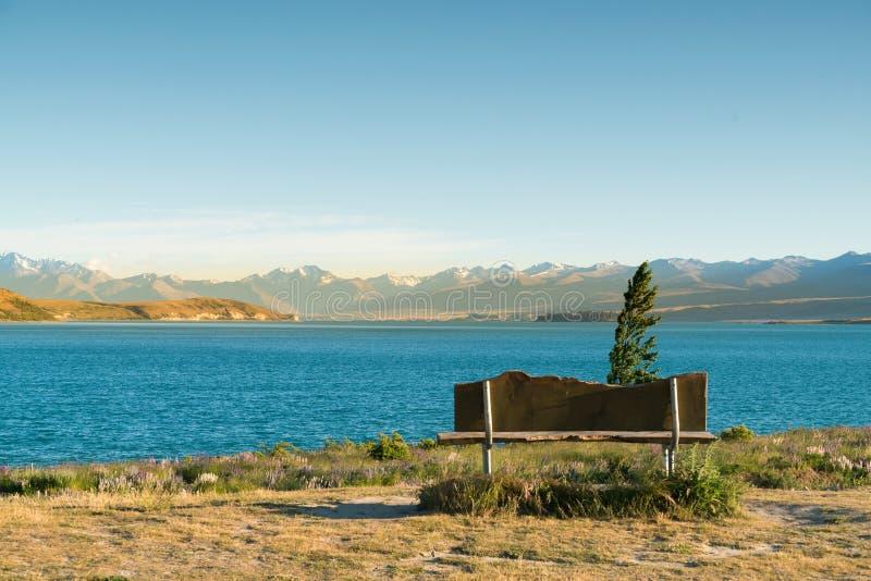 Naturlig Tekapo sjö i sydliga Nya Zeeland arkivbilder