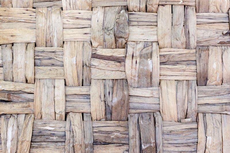 Naturlig textur för vävd korg för sugrör royaltyfri bild