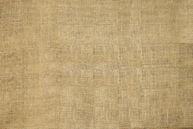 Naturlig texturerad horisontaltextur för säck för hessians för Grungesäckvävsäckväv, Grungy tappningkanfas royaltyfri foto