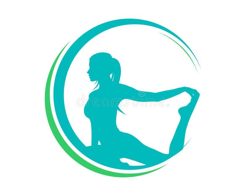 Naturlig yogaPilates logo royaltyfri illustrationer