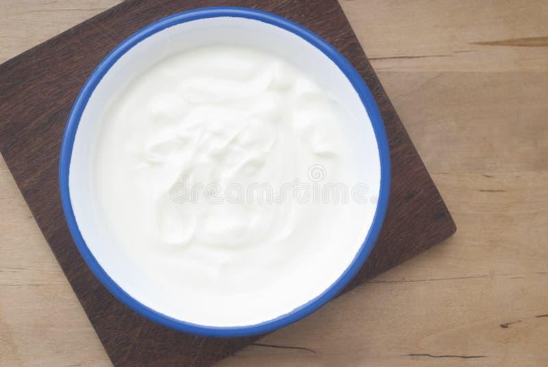 naturlig yoghurt royaltyfria foton