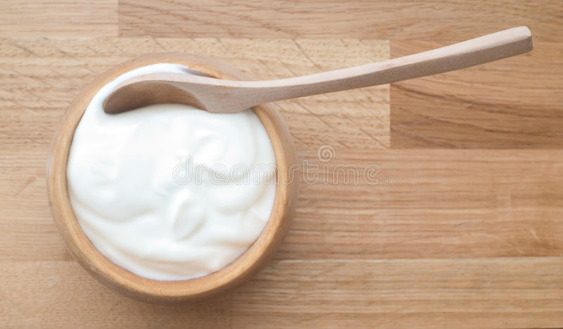 Naturlig yoghurt arkivfoto