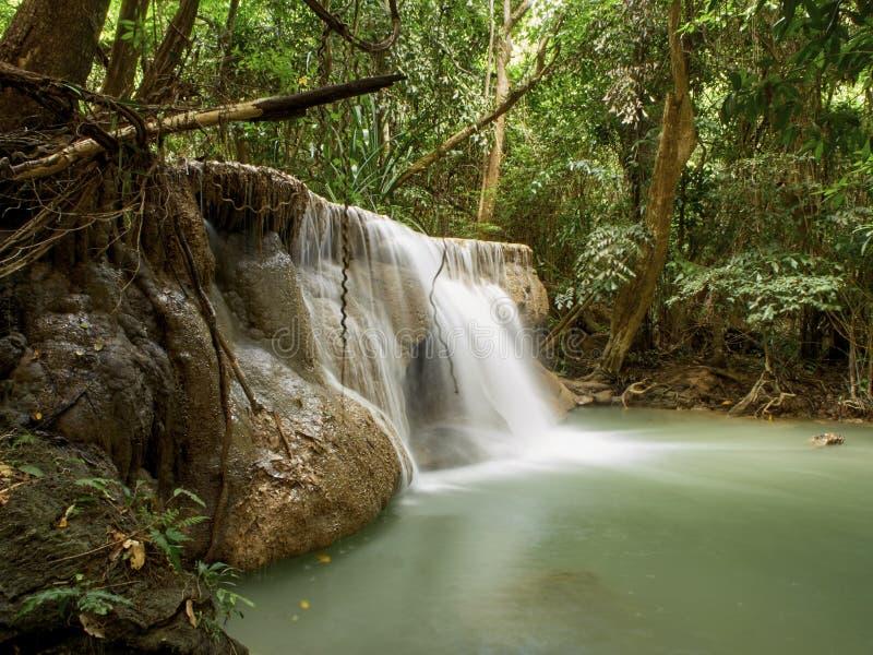 Naturliga dragningar f?r Thailand vattenfall royaltyfria bilder