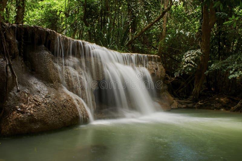 Naturliga dragningar f?r Thailand vattenfall royaltyfri fotografi