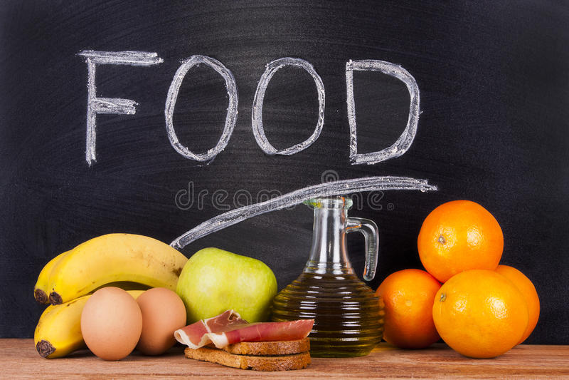 Naturliga foods royaltyfria bilder