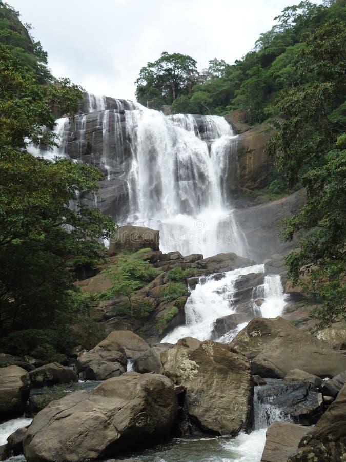 Naturliga härliga vattenfall royaltyfri foto