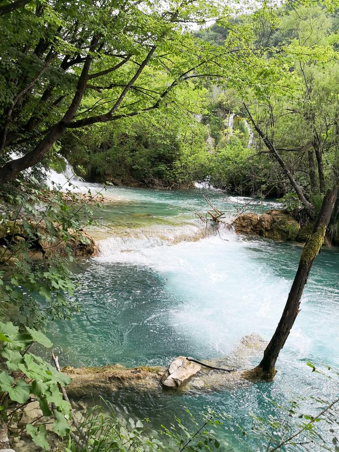 Naturliga Plitvice parkerar arkivbild